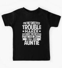 Meine Tante ist mein bester Partner im Verbrechen Kinder T-Shirt