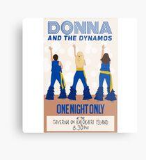 Donna und die Dynamos Poster / Drucke, Mamma Mia Hier gehen wir wieder Metallbild