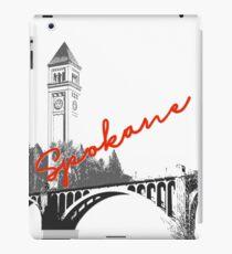 Spokane Uhrturm Monroe Street Bridge iPad-Hülle & Klebefolie
