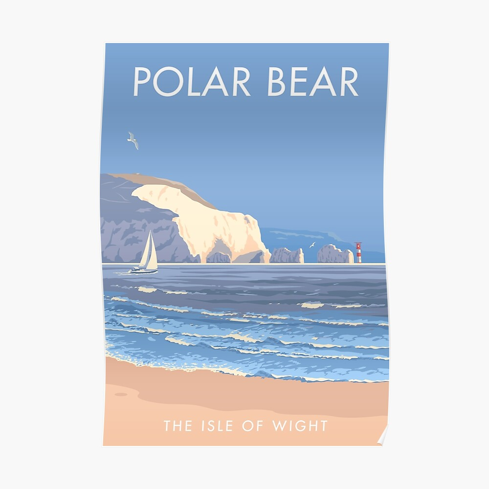 Polar Bear the Isle of Wight Poster