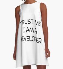 Trust me I am a developer A-Line Dress