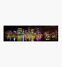Brisbane Riverside, Australia, by Night Photographic Print