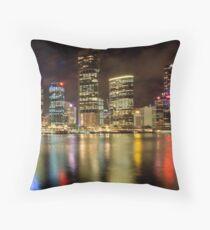 Brisbane Riverside, Australia, by Night Throw Pillow