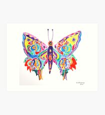 yupo butterfly Art Print