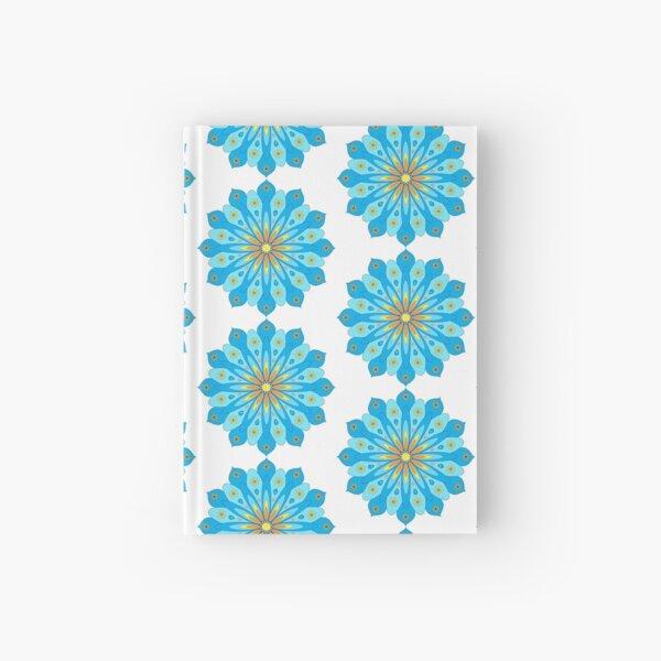 Mandala flowers blue, yellow, orange Hardcover Journal
