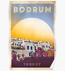 "Vintage travel poster ""Bodrum - Turkey"" ⛔ HQ quality Poster"