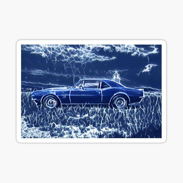 1967 Chevrolet Camaro SS Blue Electric  Sticker