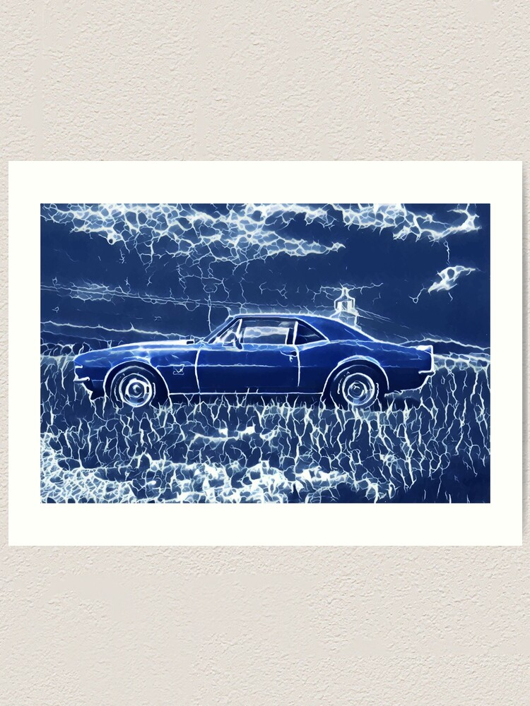 Alternate view of 1967 Chevrolet Camaro SS Blue Electric  Art Print