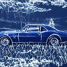 1967 Chevrolet Camaro SS Blue Electric  by Fran Lafferty