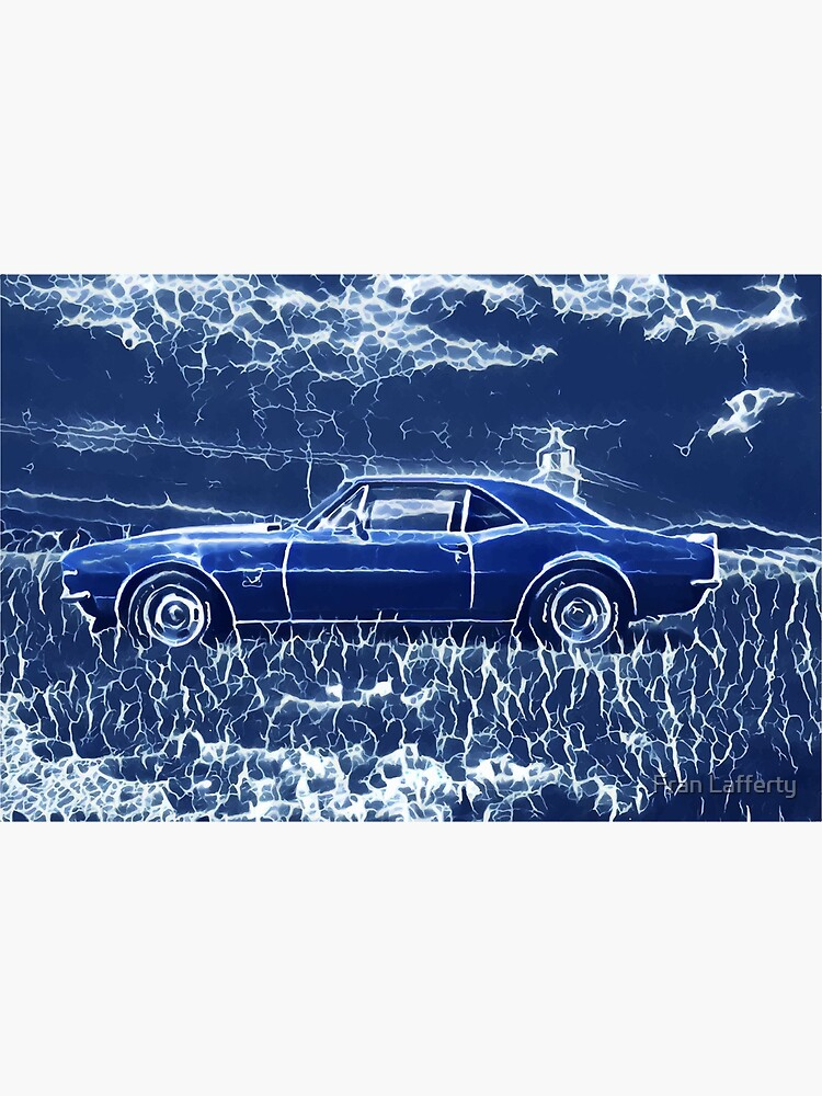 1967 Chevrolet Camaro SS Blue Electric  by FranLafferty