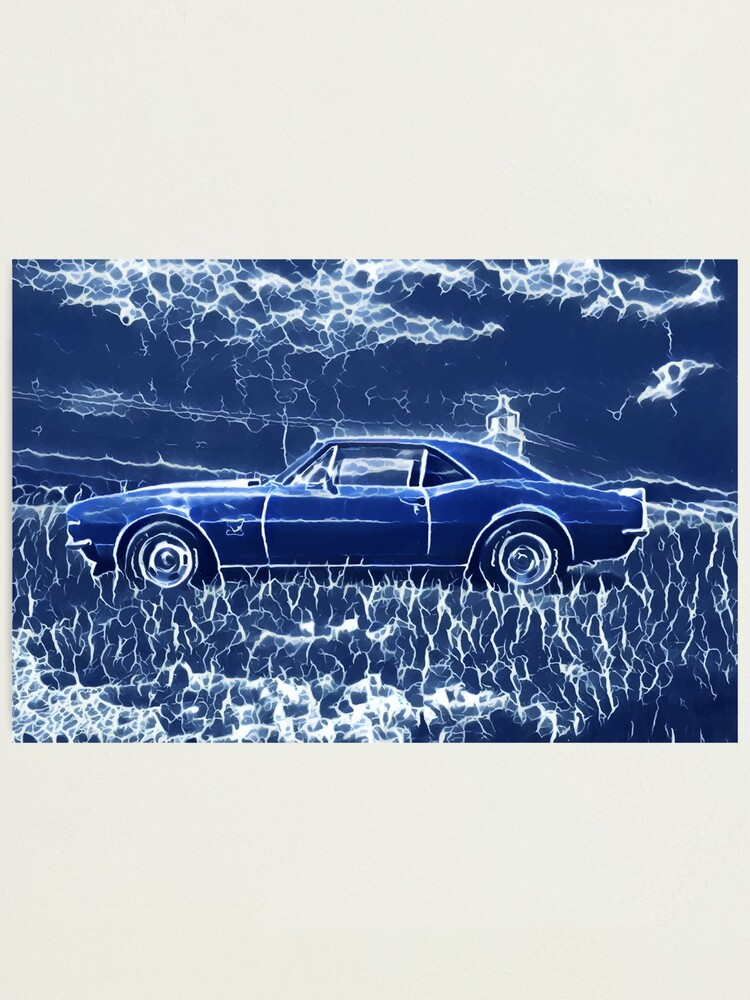 Alternate view of 1967 Chevrolet Camaro SS Blue Electric  Photographic Print