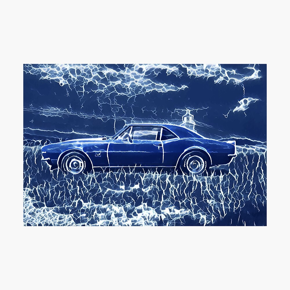 1967 Chevrolet Camaro SS Blue Electric  Photographic Print