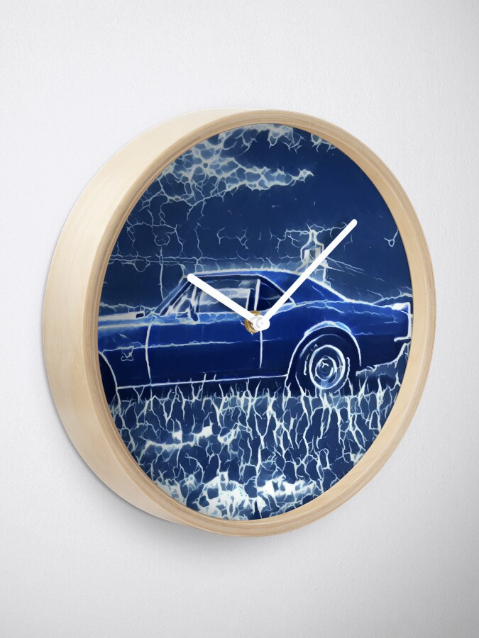 Alternate view of 1967 Chevrolet Camaro SS Blue Electric  Clock