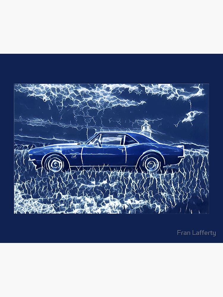 1967 Chevrolet Camaro SS Blue Electric  by FranLafferty