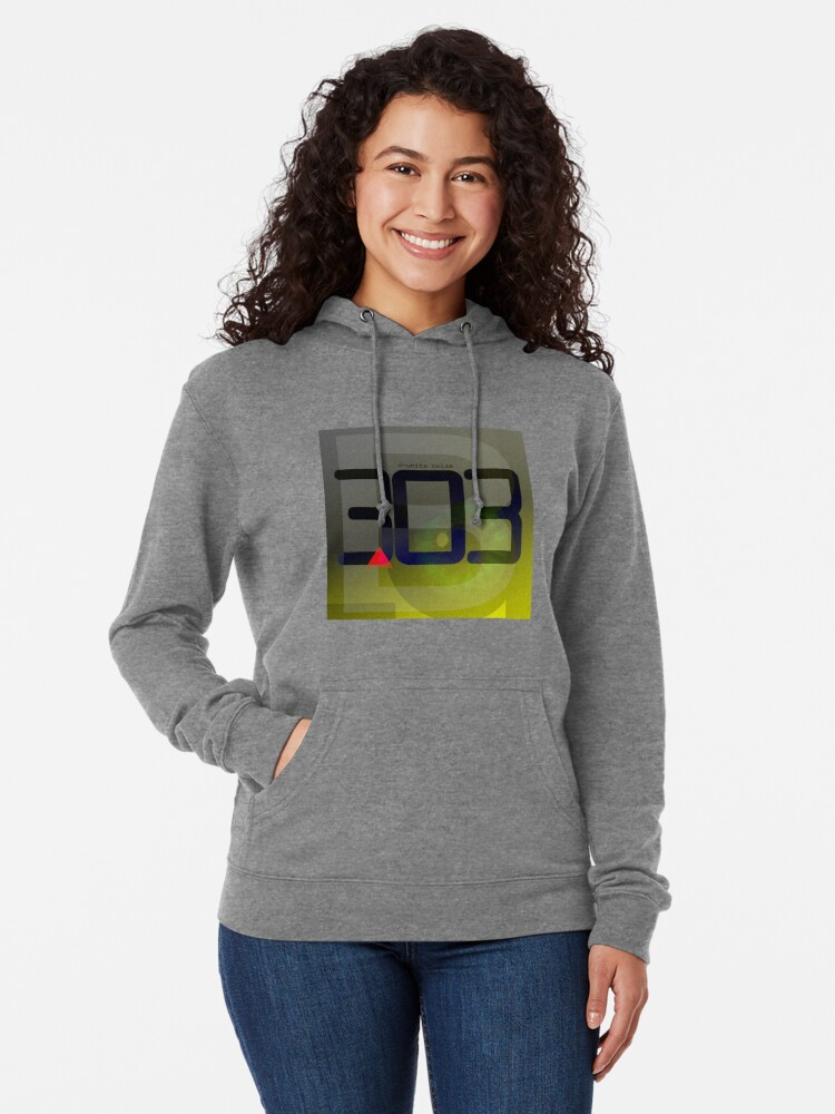 Alternate view of D-White Noise - B 303 Lightweight Hoodie
