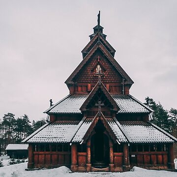 Norwegian Stave Church by daddyiwantapony