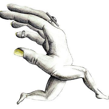 Hand on the run by ArteLauraS