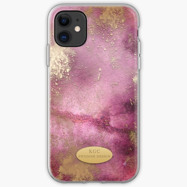 Mobile Pink Gold iPhone Soft Case