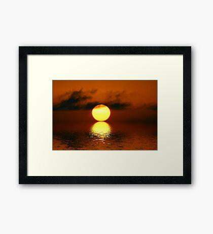 Sunset- I Framed Print