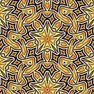 Art Deco Gold Geo Star by webgrrl