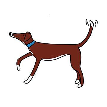 cute lurcher dog by lizmaydesigns