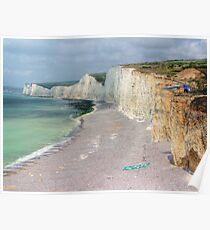 Birling Gap and the Seven Sisters - HDR Poster