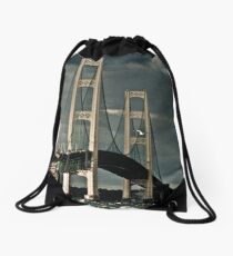 Mackinac Bridge No 0816101 Drawstring Bag
