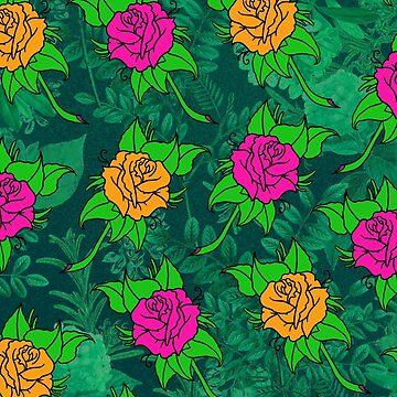 rose pattern tee by MUMtees