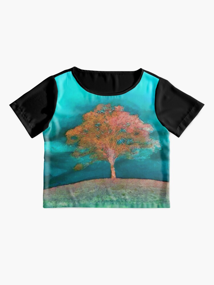 Alternate view of A solitary tree  Chiffon Top