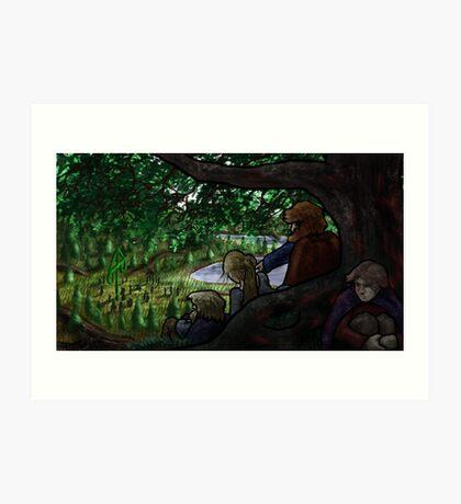 Norse Midsummer: People Watching Art Print
