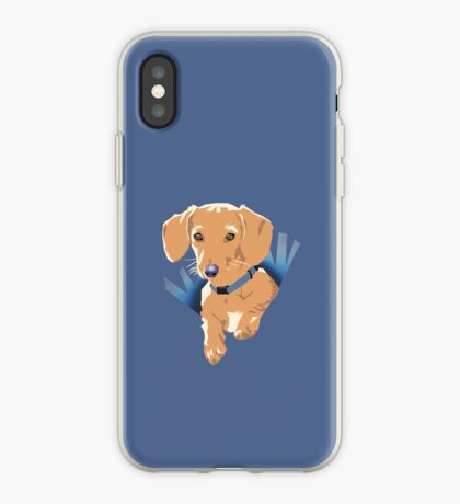 Pocket Puppy Purple iPhone Case