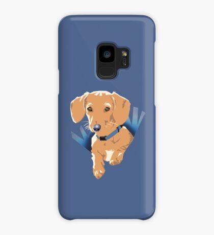 Pocket Puppy Purple Case/Skin for Samsung Galaxy