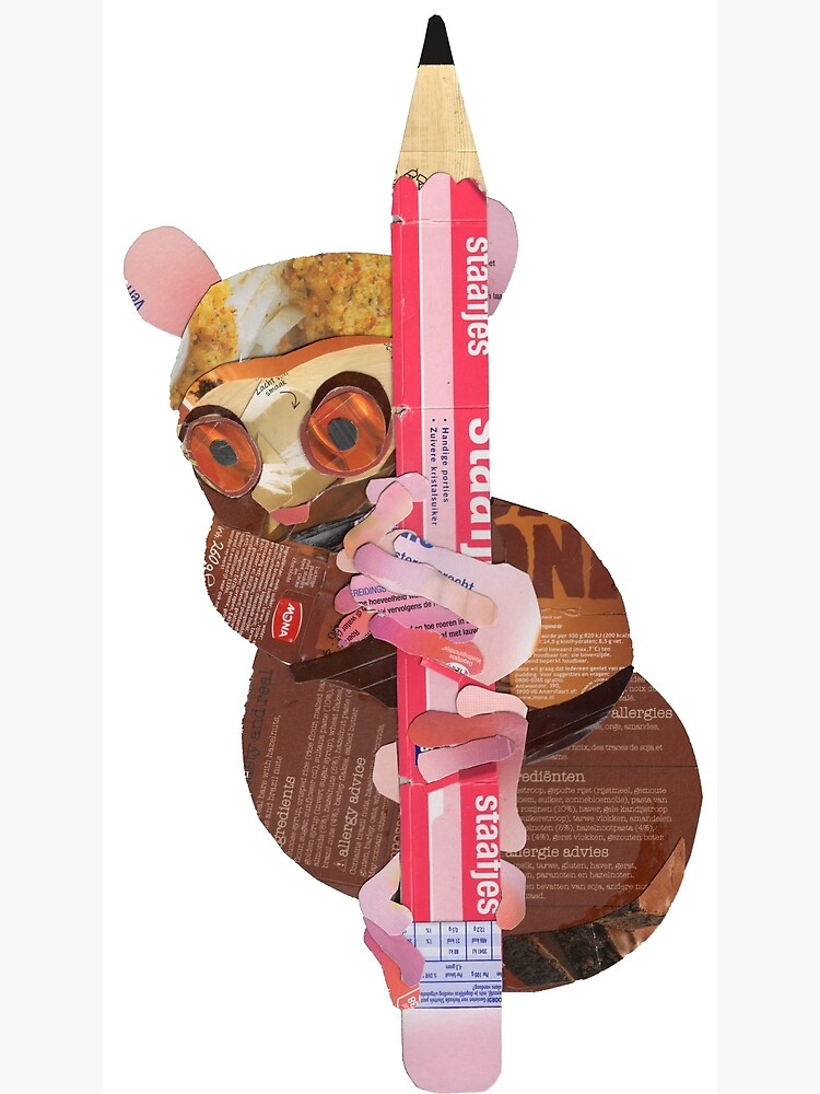 Tarsier clinging to a pencil by Packeredo