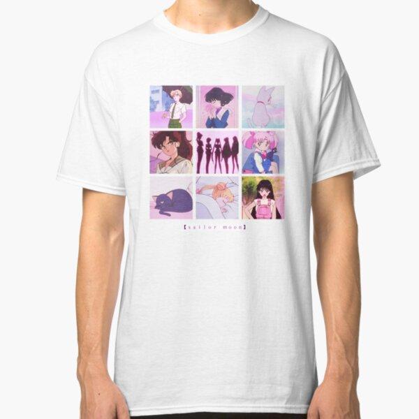Sailor Moon Vaporwave Aesthetic anime collage  Classic T-Shirt