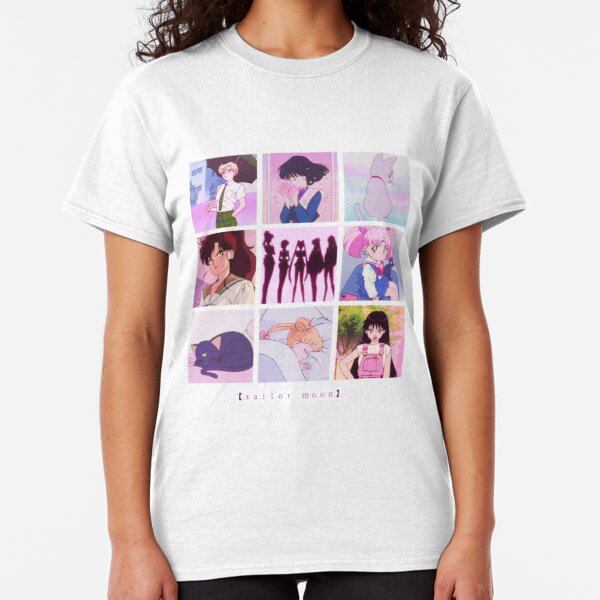 Sailor Moon Vaporwave Aesthetic anime collage  Classic T-Shirt