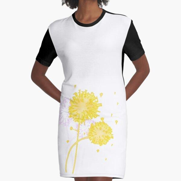 Dandelion Dreams Graphic T-Shirt Dress