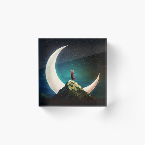 Her Moon Acrylic Block
