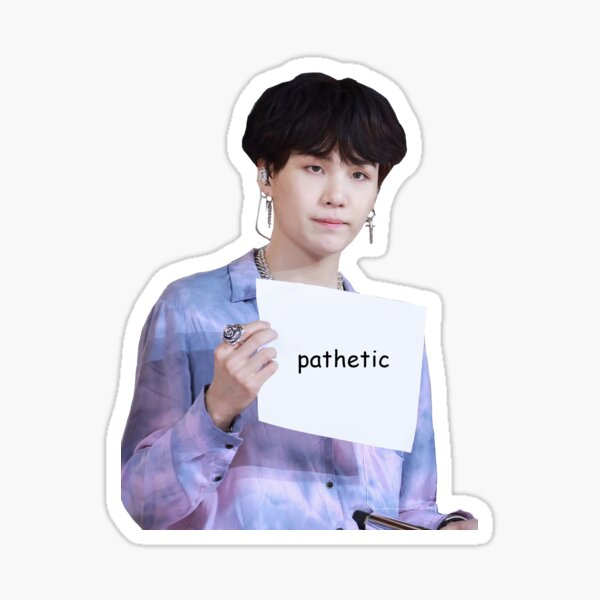 motivational yoongi Sticker