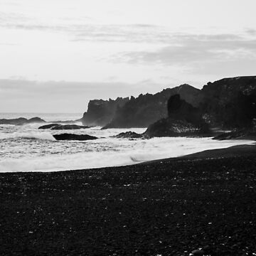 Black Sand Beach by daddyiwantapony