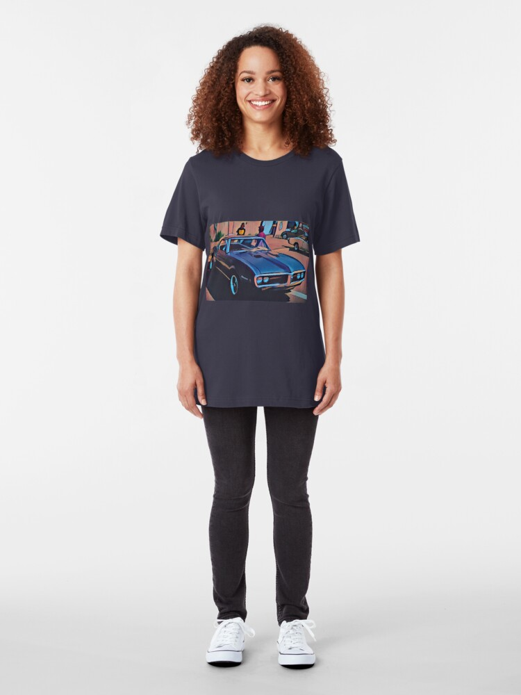 Alternate view of 1968 Pontiac Firebird Slim Fit T-Shirt