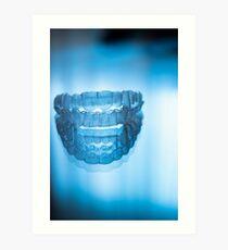 Invisible dental teeth aligners Art Print