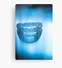 Invisible dental teeth aligners Metal Print