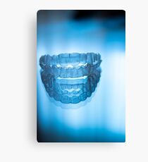 Invisible dental teeth aligners Canvas Print