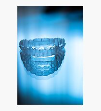 Invisible dental teeth aligners Photographic Print