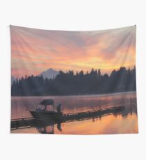 Sunrise Fishing Wall Tapestry