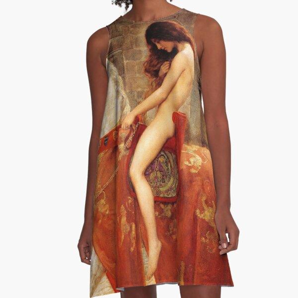 Lady Godiva By John Collier C 1897 A Line Dress By Tomsredbubble Redbubble
