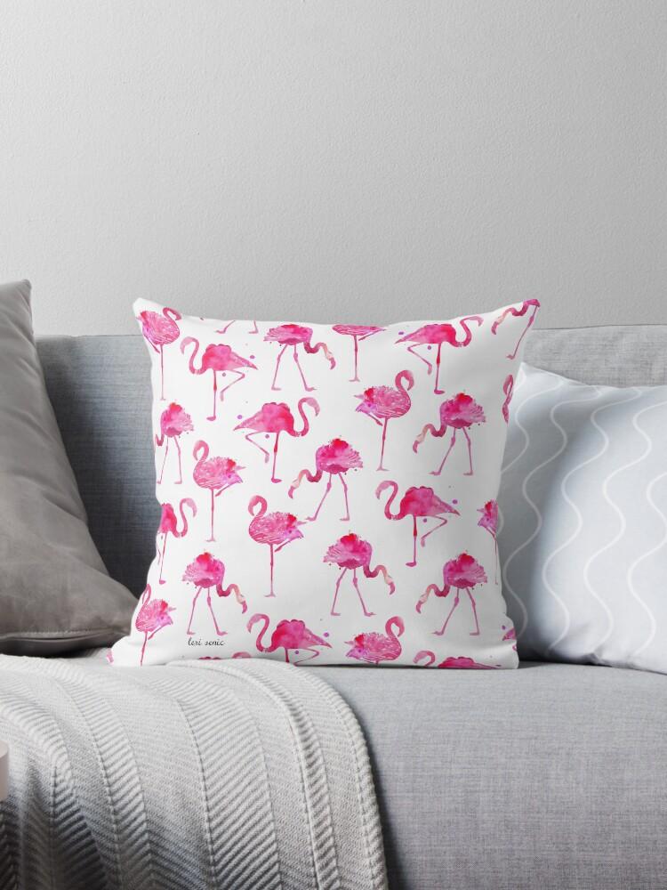 floridian flamingos - white by freeinthelines