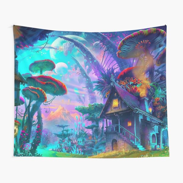 Psychedelic (Blue) Tapestry
