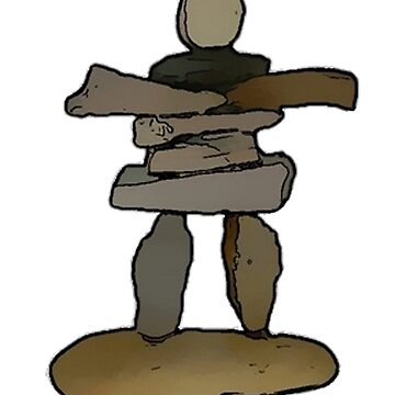 Inukshuk - Native American Art by DeepDenn