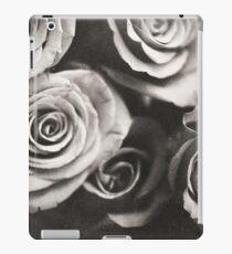 Medium format analog black and white photo of white rose flowers iPad Case/Skin